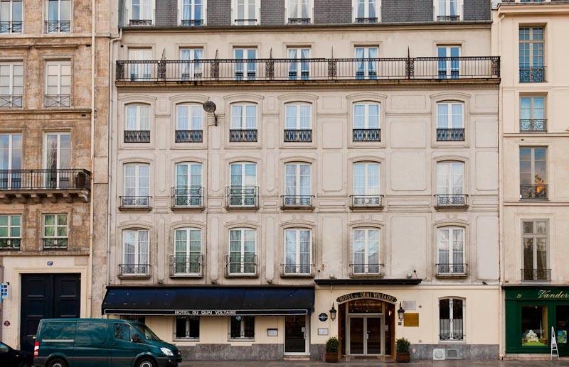 Hotel du quai voltaire sur h tel paris for Exterieur quai le bouillon