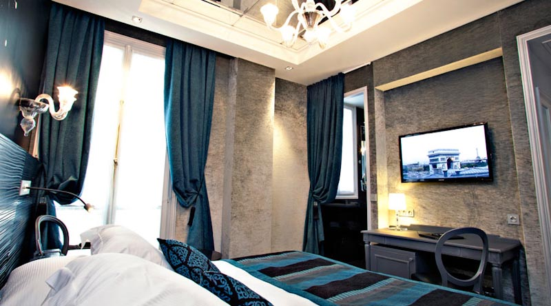 Chambre deluxe Hotel Champs Elysees Mac Mahon